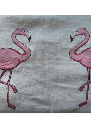 Летний кроп топ с фламинго