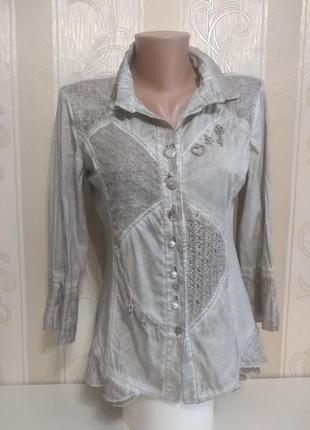 Шикарная вещь блуза рубашка бохо, elisa cavaletti