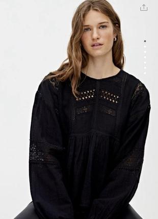 Блузка рубашка вышиванка pull&bear