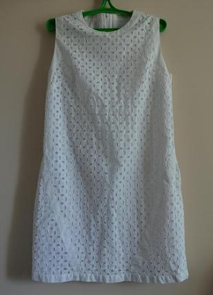 Белое платье из прошвы шитье next