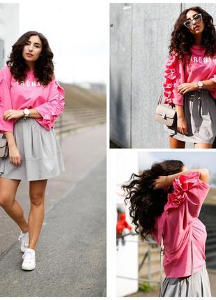 Толстовка худи свитшот розовый mango ironic