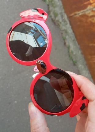 Стильные крутые круглые качественные необычные очки polarized собачка
