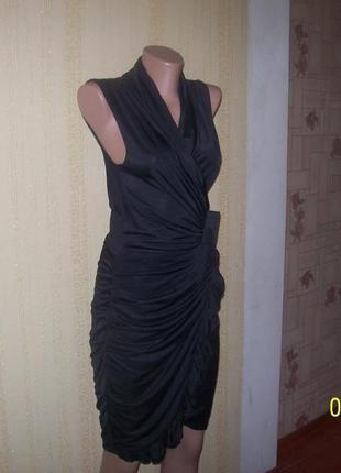 Стильное евро платье в стиле ретро на запах