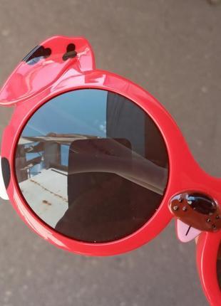 Стильные крутые круглые качественные очки для детей polarized антиблик
