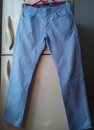 Massimo dutti - хлопковые голубые брюки / 32 размер. оригинал!