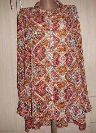 Легкая блуза atmosphere р.20(54-58) рубашка сорочка