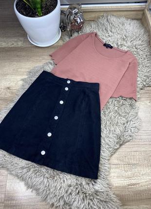 Шикарная юбка велюровая / вельвет h&m/ zara/ bershka