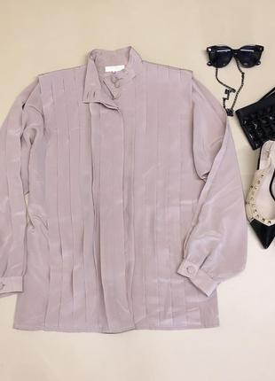 Блуза из шелковистой ткани