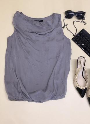 Шёлковая блуза без рукавов