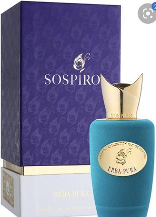 Sospiro perfumes erba pura туалетная вода , духи , парфюм , оригинал , распив !