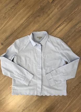 Красивая укороченная рубашка с-м