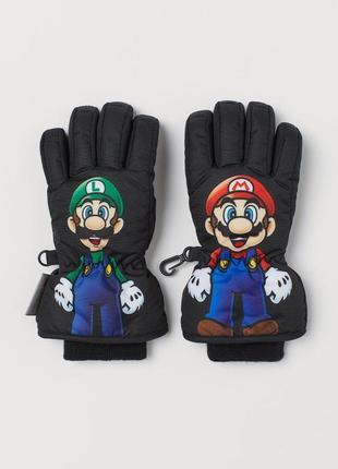Перчатки рукавицы термо, марио