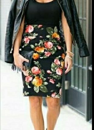 Юбка #юбка карандаш # юбка в цветах