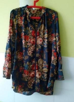 Блуза блузка цветочный принт h&m