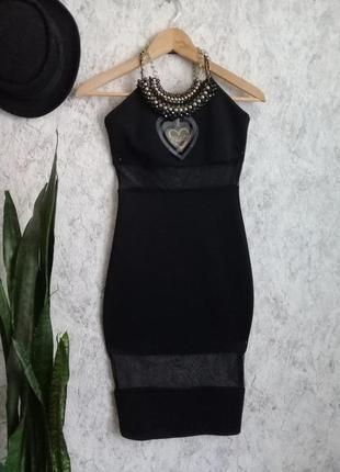Коктельное платье  с прозрачными вставками р. 42-44 от club l