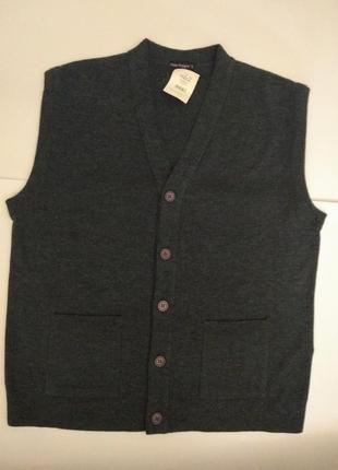 Новая мужская шерстяная жилетка под рубашку с карманами размера xl