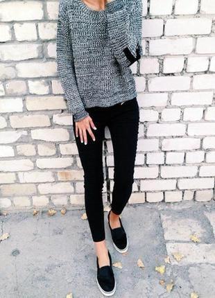 Черные серые скинни джинсы узкачи американки джеггинсы стрейч