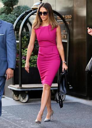 Яркое стильное платье миди по фигуре футляр+🎁сумка