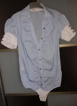 Рубашка сорочка боди комбидрес с короткими рукавами