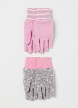 """Флисовые перчатки """"h&m"""" 6-8 лет"""