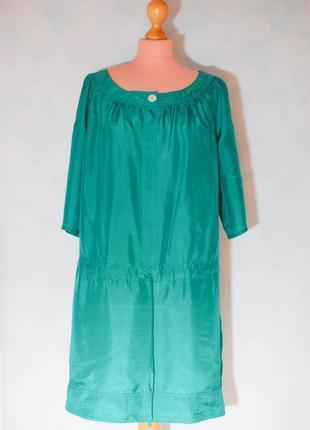 Шелк шелковое летнее платье в спортивном стиле  туника шелковая миди