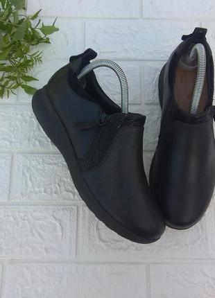 〰️ кожаные туфли полуботинки мокасины clarks р 38