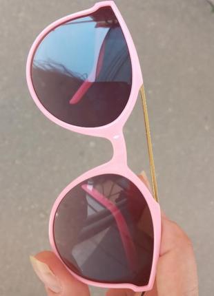 Стильные качественные актуальные универсальные необычные очки для девочки