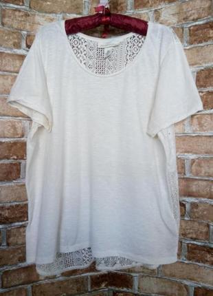 Блуза футболка с кружевной спинкой