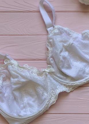Роскошный белый кружевной бюстгальтер на большую грудь bpc selection 90e 85e