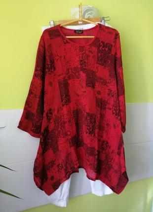 Туника платье лен коттон sarah santos италия