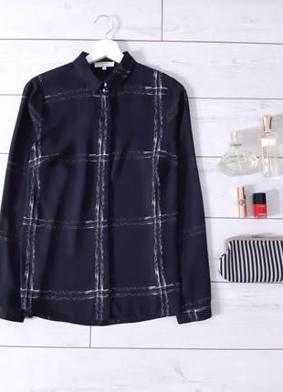 Мега стильная лаконичная блуза прямого силуэта