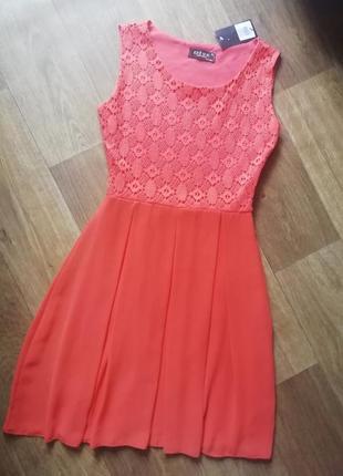 Нарядное платье с гипюром и шифоновой юбкой, сукня, сарафан, плаття, вечернее