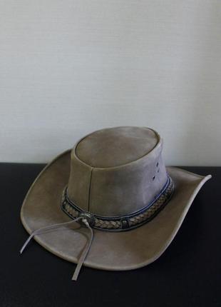 """Оригинал шляпа в стиле вестерн """"texas"""" кожанная brixton"""