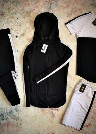 Asos комплект из четырёх единиц, спортивный костюм и футболка с шортами