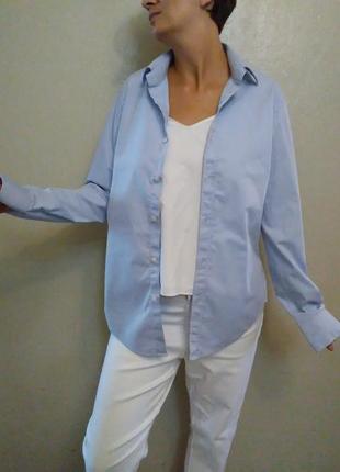 Рубашка,оверсайз,белая,голубая,хлопок