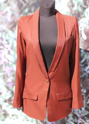 Пиджак теракотового цвета h&m
