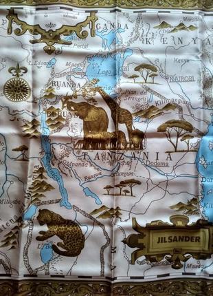 Платок из натурального шелка от jil sander