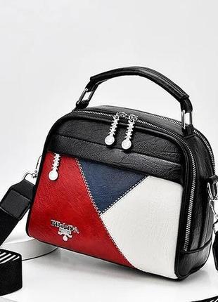 Качественная женская сумка через плечо в стиле prada.