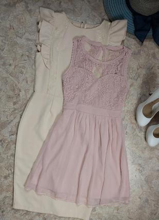 Шикарное очень нежное брендовое платье