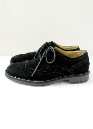 """Стильные брендовые классические замшевые туфли броги """"next"""". размер uk7/ eur41."""