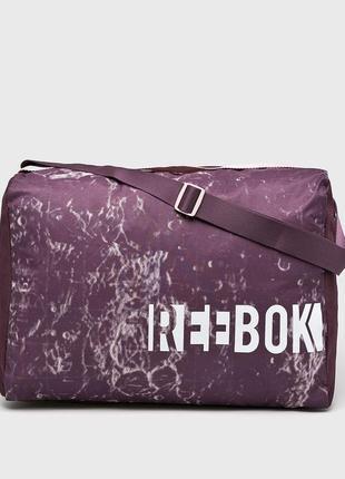 Женская спортивная сумка reebok фиолетовая