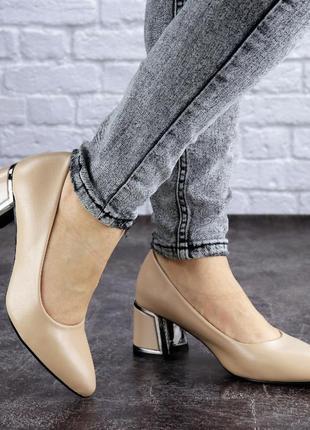 Женские туфли на каблуке черные vinnie 2025