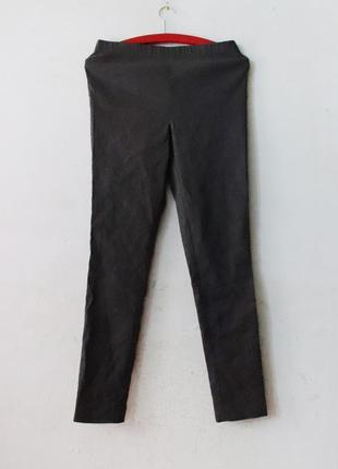 Льняные брюки стрейч на резинке  лосины sarah pacini лен