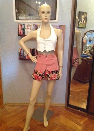 Милейшая коттоновая юбка со вставками асимметричной длина, бренда sutherland, р. 46 -48