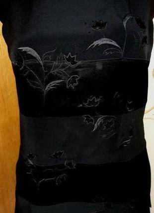 Чорна подовжена блуза j taylor р40
