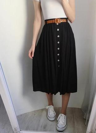 Винтажная миди юбка на пуговках винтаж st.michael