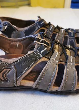 Мужские сандалии geox серого цвета из нубука