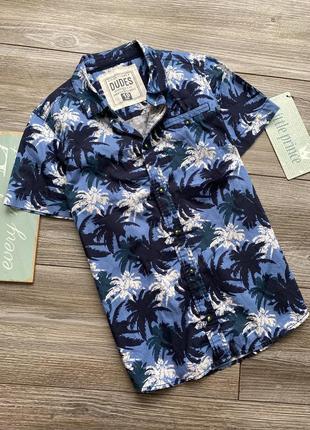 Рубашка с пальмами matalan 9-10л
