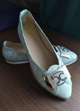 Туфлі шкіра натуральна  шкіряні туфли кожа кожаные балетки