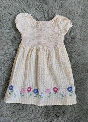 Хлопковое жатое платье jojo maman bebe на 6-12 месяцев!